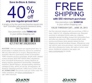 joann printable coupons