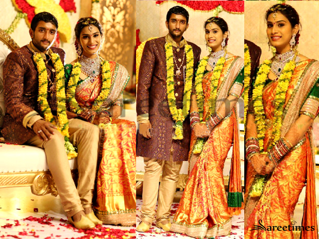 Plain saree with border designs how to design a plain saree at home - Sareetimes Celebrities Bridal Saree
