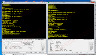 Terminale połączone z modułami ESP8266