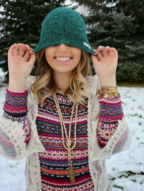 neff, beanie, sugar love boutique, alex and ani, colorful sweater