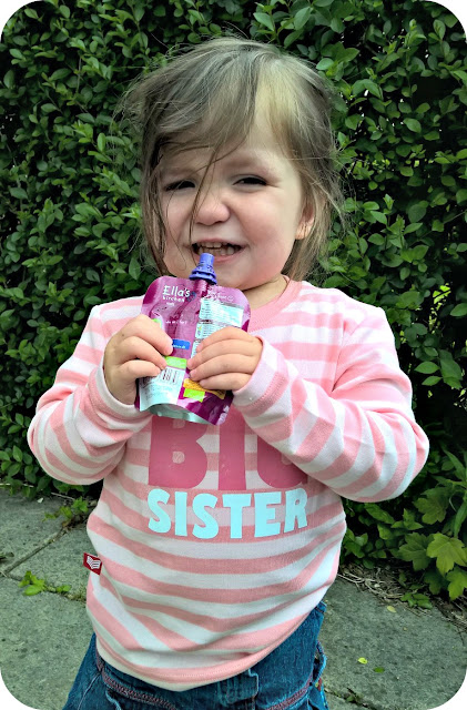 Big Sister t-shirt with Ella's Kitchen Smoothies Fruit Pouch