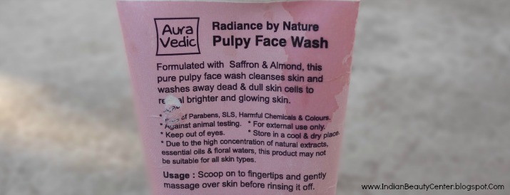 Auravedic Pulpy Face Wash Saffron Almond