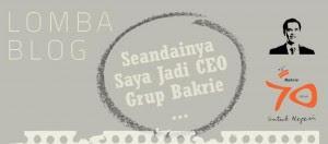 Seandainya Saya Jadi CEO Group Bakrie