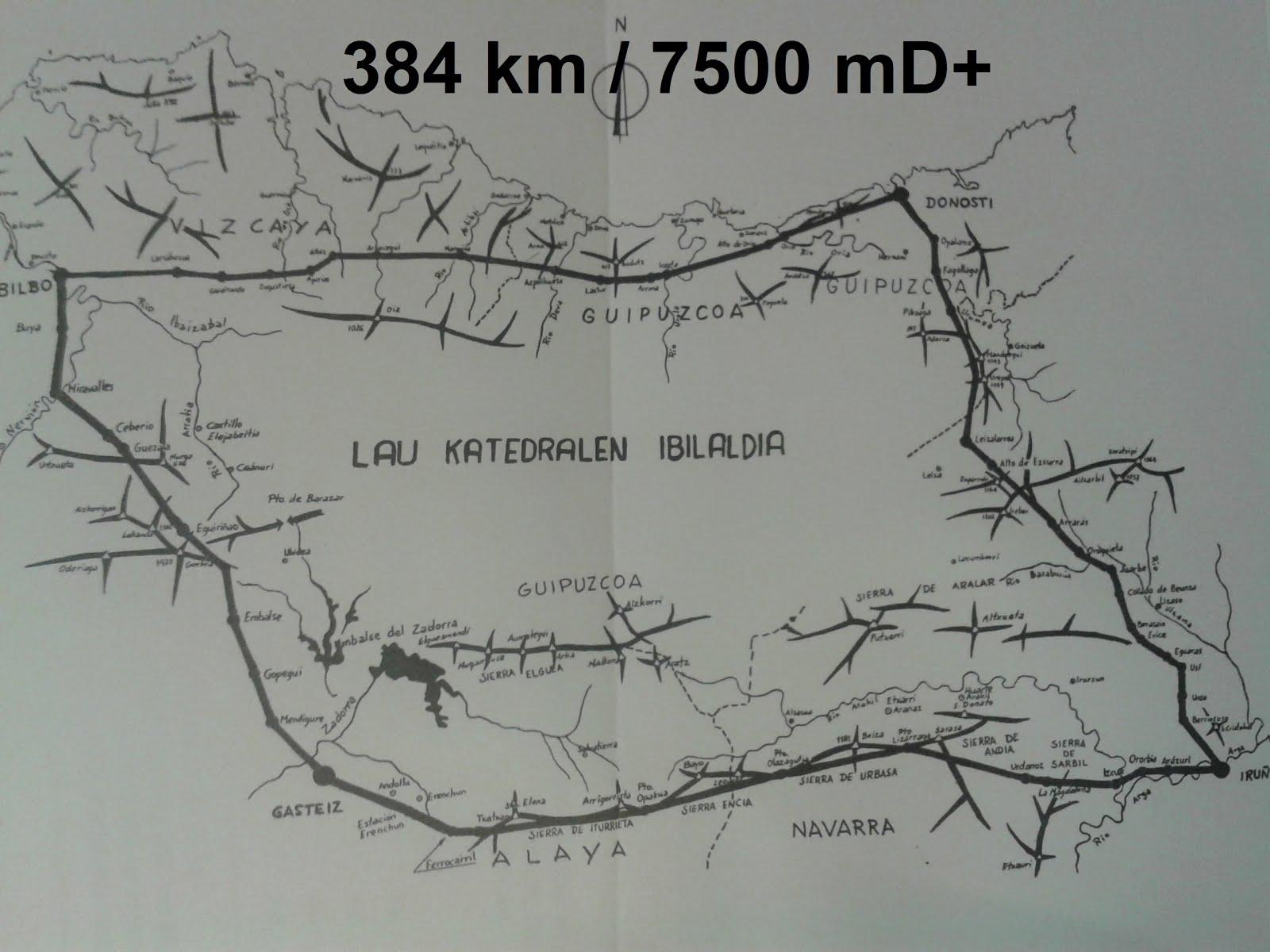 4 Katedralak: 384 km / 7500mD+