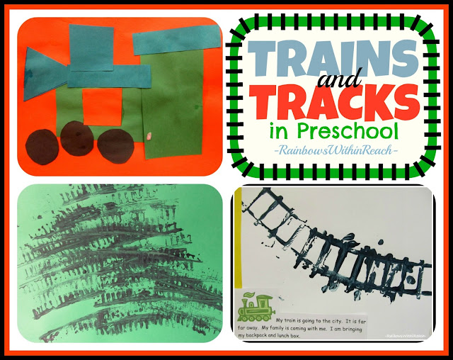 photo of: Trains and Tracks in Preschool via RainbowsWithinReach