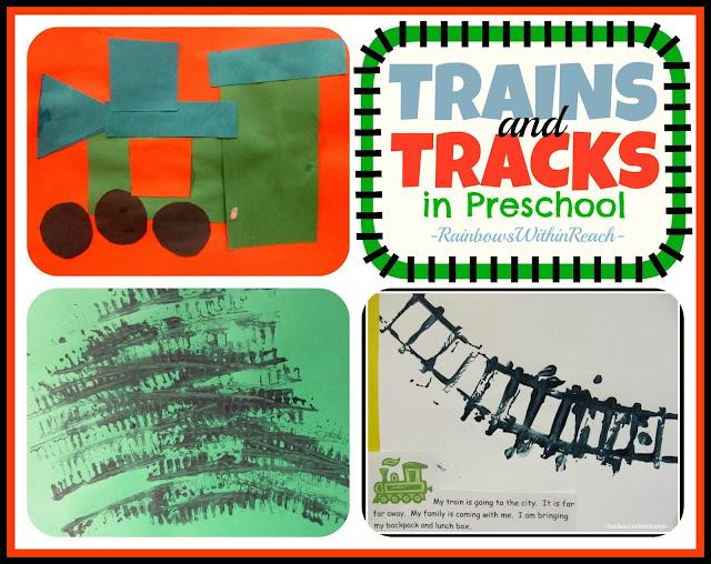 photo of: Trains and Tracks in Preschool via RainbowsWithinReach