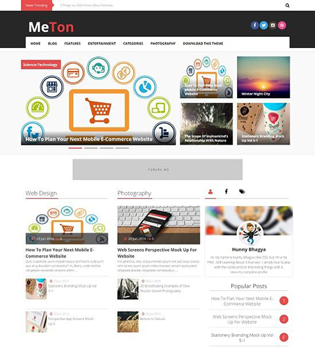 Template Blogspot - Meton Magazine - Responsive