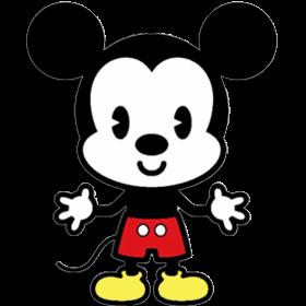 Desenho fofinho colorido Mickey com fundo transparente