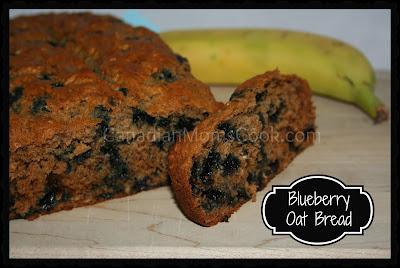 Banana Blueberry Oat Bread
