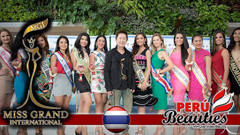 Presidente de Org. Miss Grand International recibe a candidatas  - Miss Grand International 2015