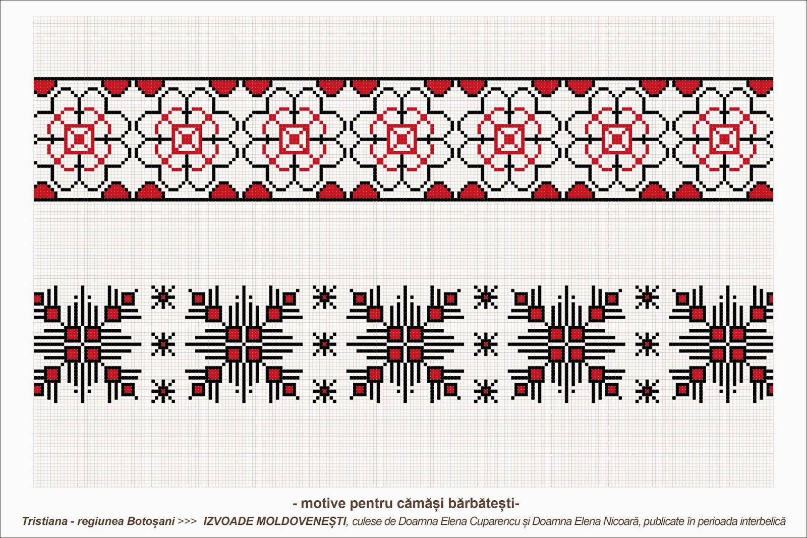 Semne cusute romanian traditional motifs moldova botosani sat tristiana - Beautiful romanian folk motifs ...