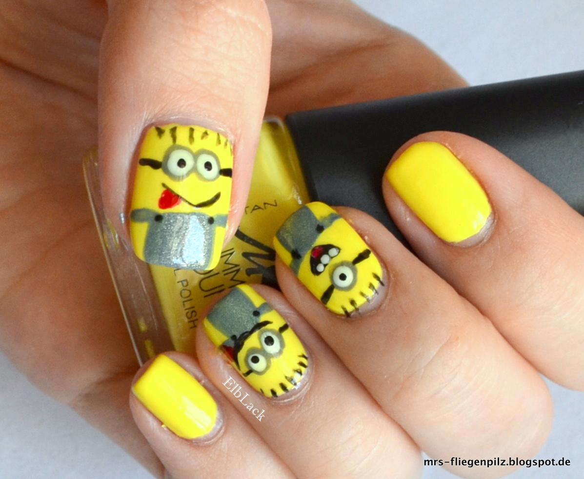 ElbLack : Nageldesign: Minions & Manhattan Lime-Up (Summer Sound LE)