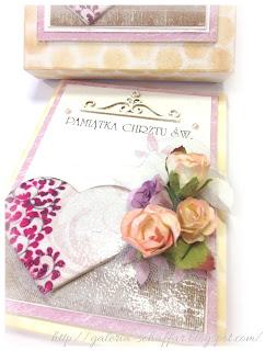 kolorowa romantyczna karteczka hand made schaffar