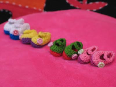 Cute crochet Mary Jane shoes