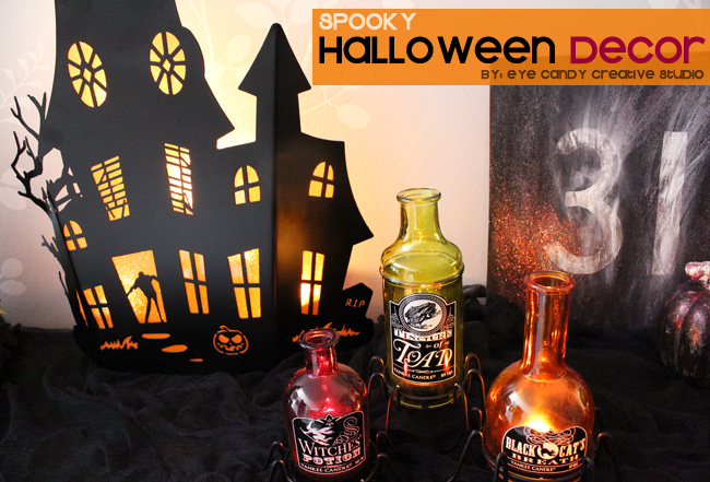 yankee candle halloween home decor, haunted house, spooky halloween