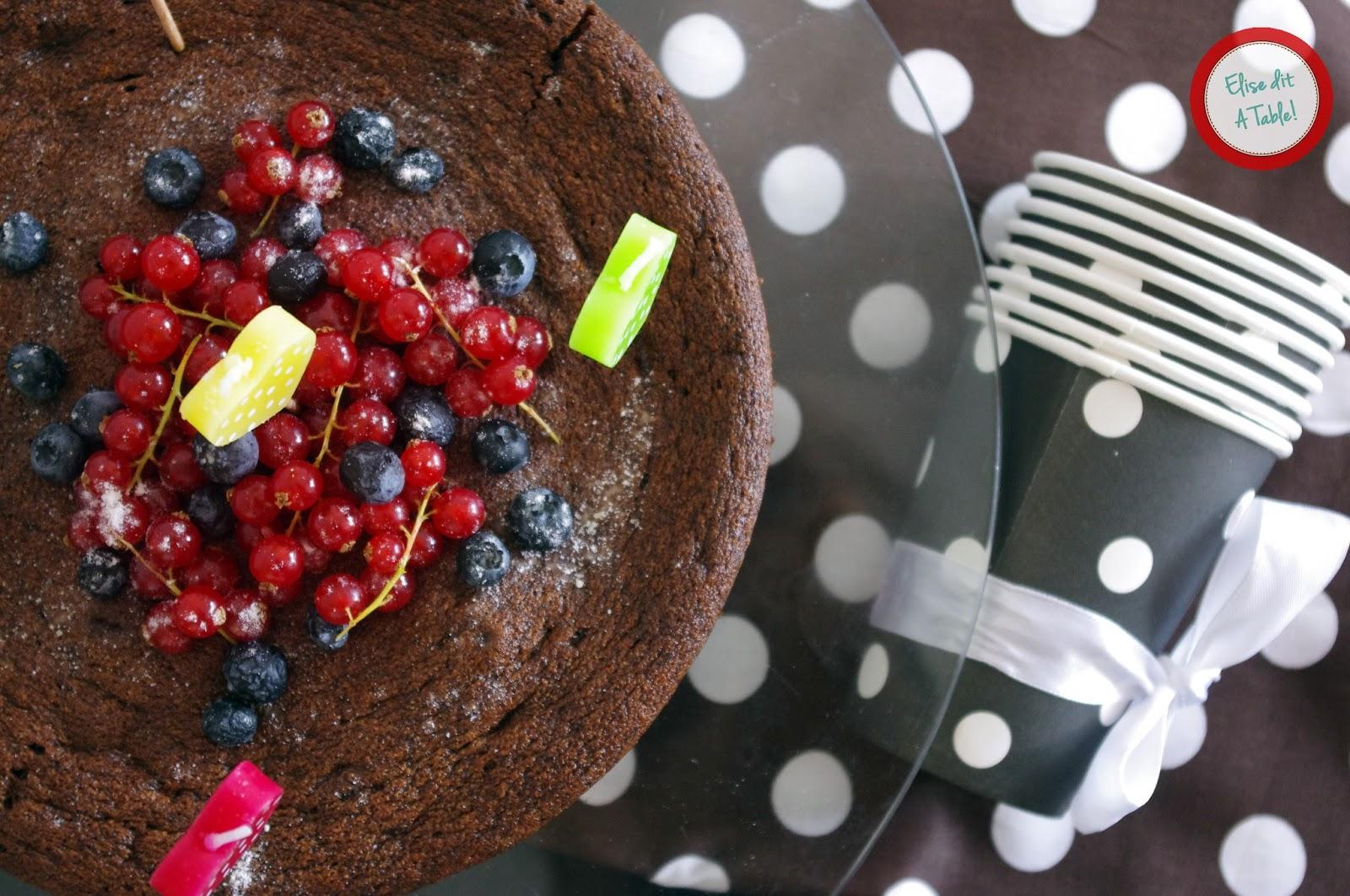 recette Fondant au chocolat et fruits rouges