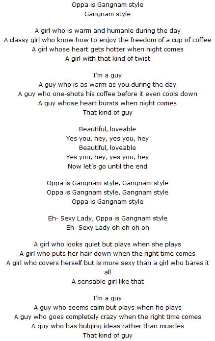 Testo canzone gangnam style di psi e traduzione - Dive testo e traduzione ...