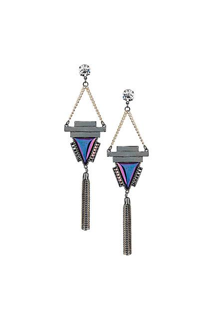 blue dangly earrings
