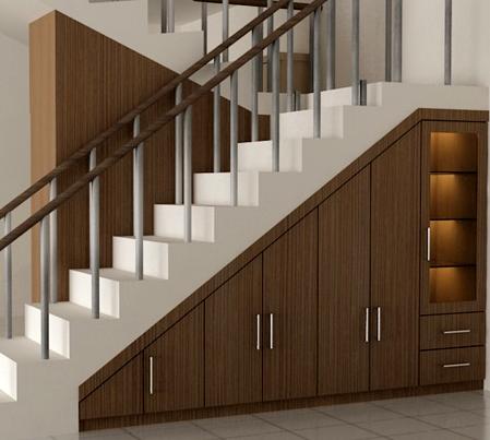 model lemari bawah tangga minimalis terbaru 2017 | rumah