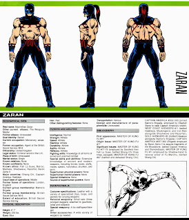 Zaran Ficha Marvel Comics