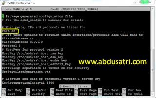 cara rubah port 22 ubuntu server