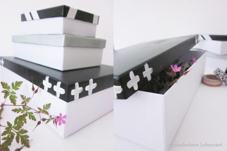 DIY Pappschachteln selbst gestalten mit Mustern und Farben