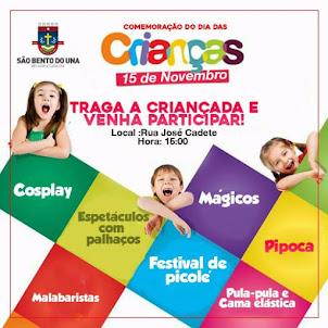 Festa em Comemoração do Dia das Crianças, São Bento do Una/PE: