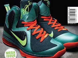 Shoe of the Month Mens September 2011- Nike LeBron 9 'Miami'