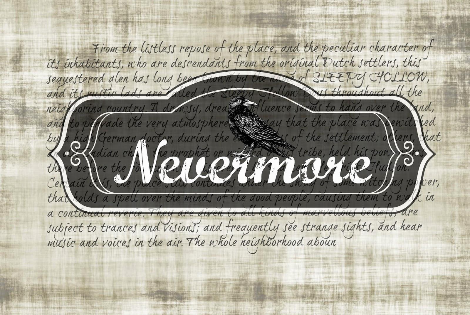 Edgar Allen Poe, The Raven, Halloween Printable, spooky, Easy Halloween DIY, Nevermore Quoth the Raven