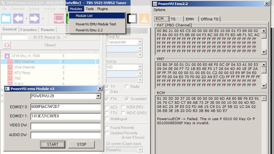 software untuk membuka acakan powervu