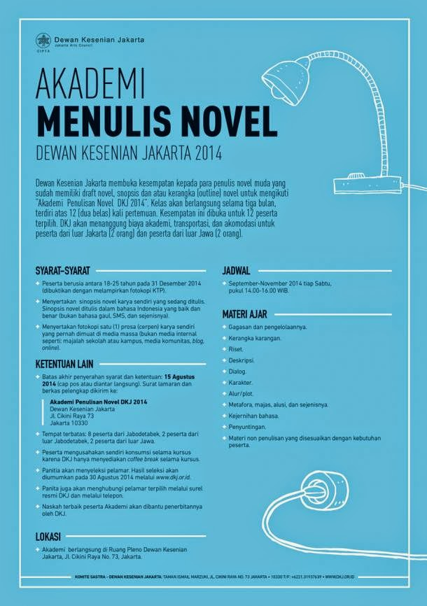 Akademi Menulis Novel Dewan Kesenian Jakarta 2014