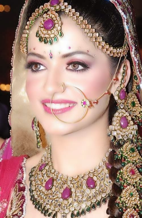 Bridal Makeup Pics Latest : beautyfashionandkiran: Most beautiful Indian Bridal Looks.