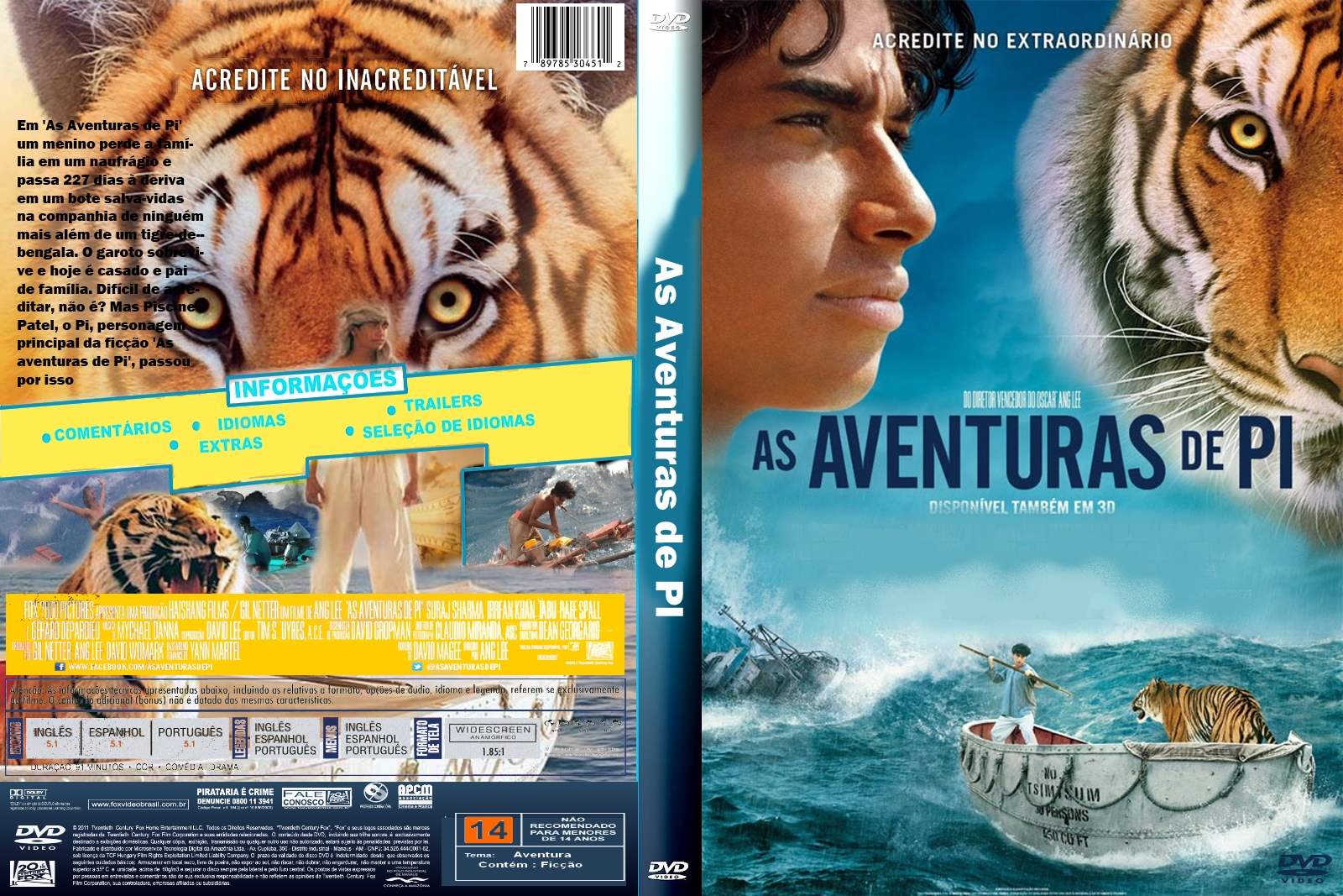 life of pi why does 'life of pi' is a visual and emotional tiger claudia puig, usa today published 6: 40 pm et nov 20, 2012 | updated 8:23 pm et nov 20, 2012.