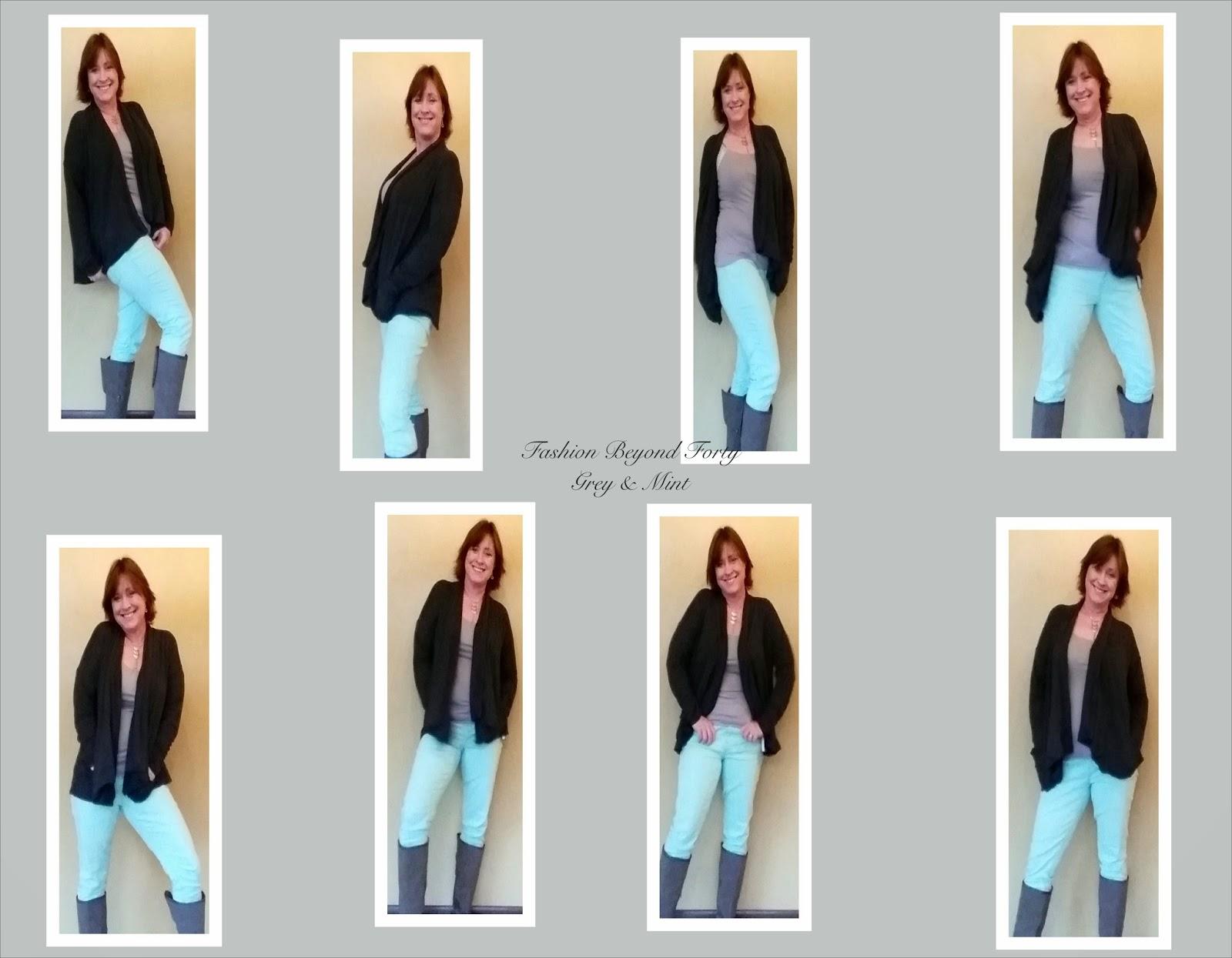 Grey and Mint Fall Fashion Fashion Beyond Forty
