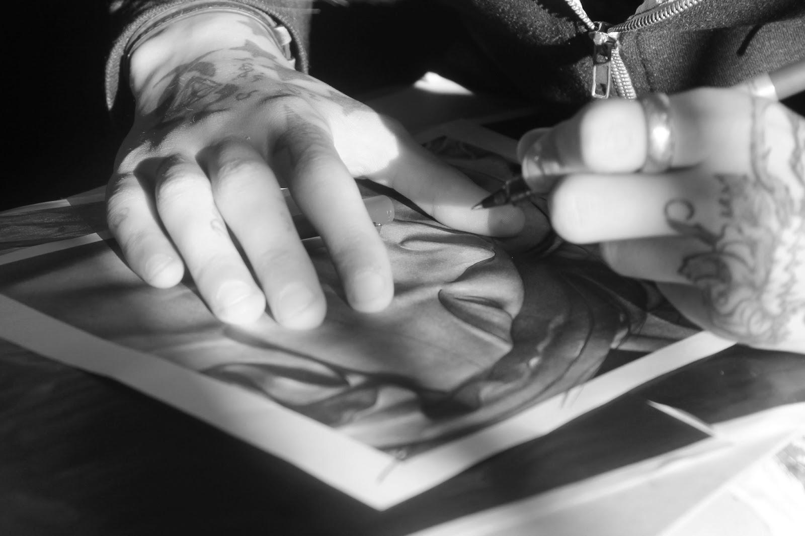 fredimix tattoo calquer un dessin avec feuille