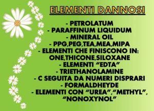 INCI, elementi dannosi contenuti nei prodotti cosmetici, petrolati, paraffina