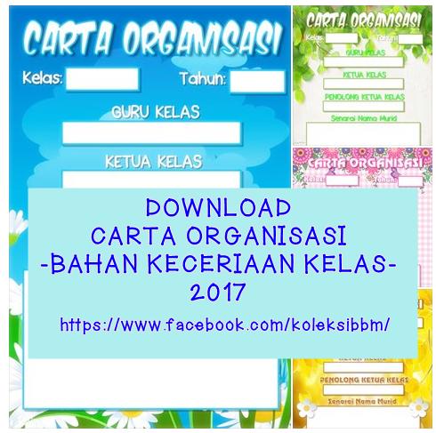 Download Carta Organisasi Kelas Percuma Koleksi Bahan Bantu Belajar Bbm