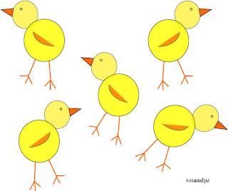 Como el buitre te ha llevado un pollito, ahora hay cinco en el nido