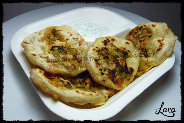 pane arabo farcito vegetariano (in padella)