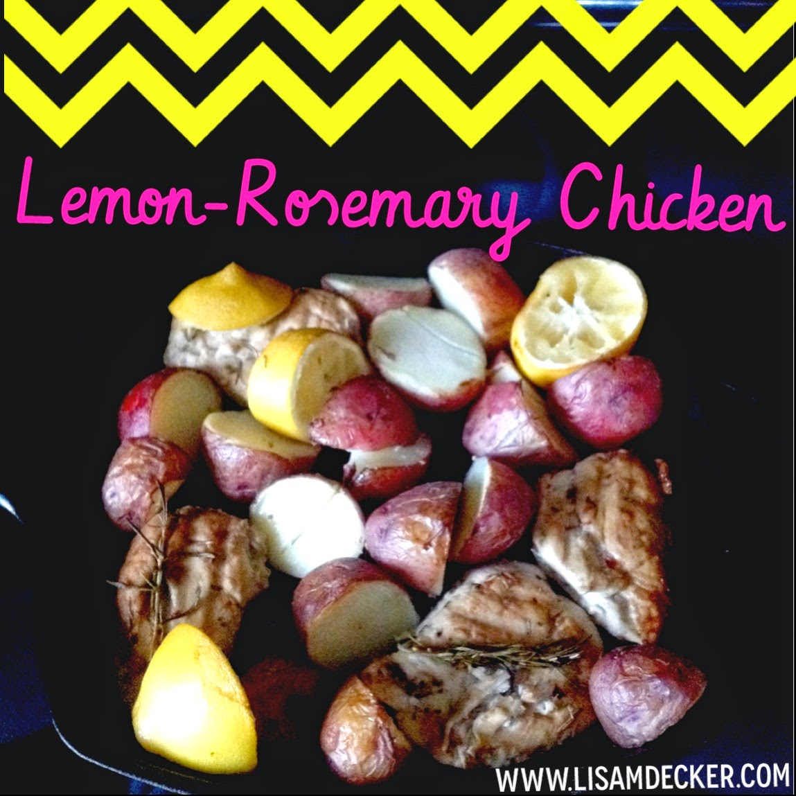 Lemon Rosemary Chicken, Clean Eating, Health Dinner Ideas