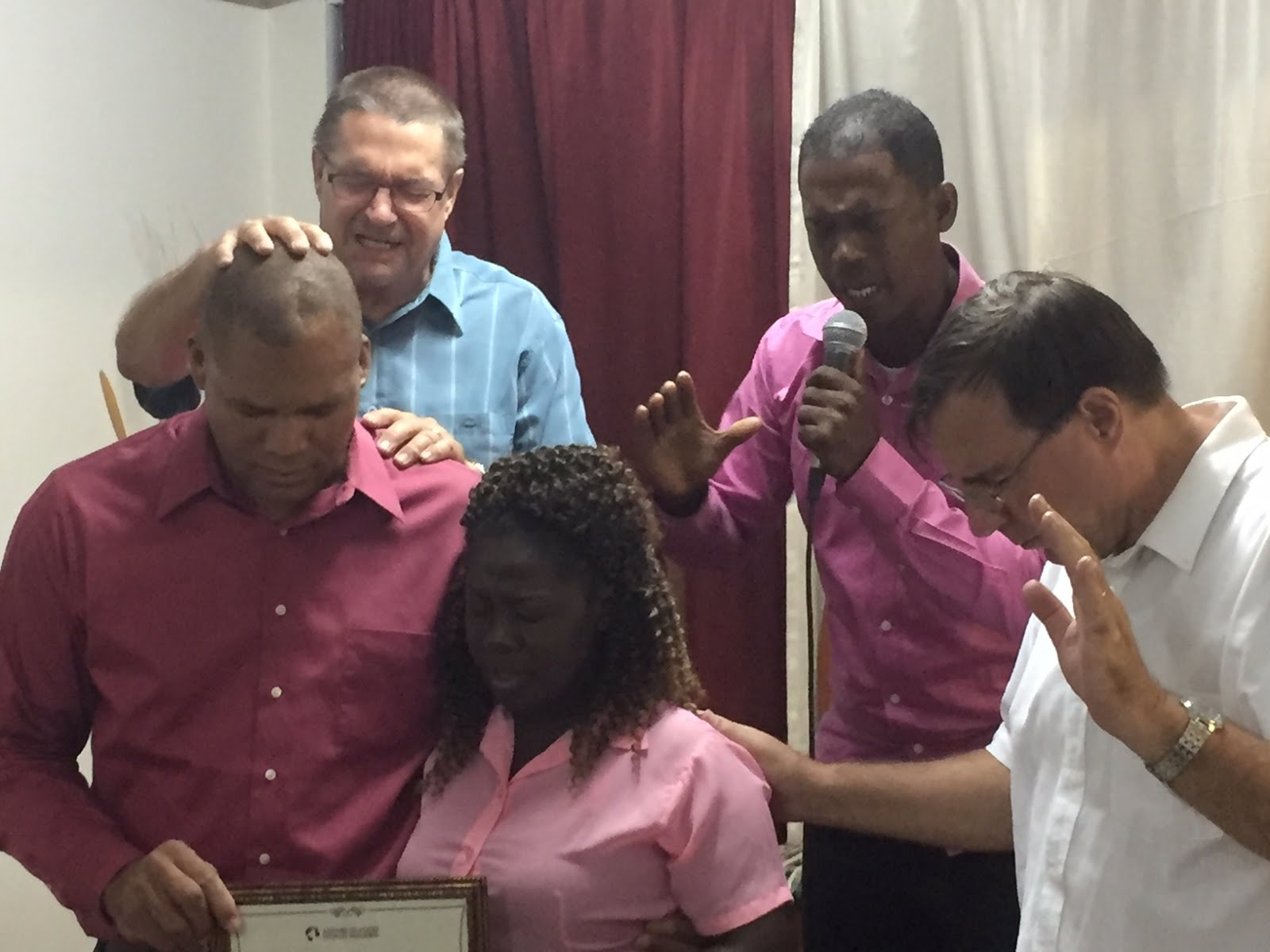 Confirming pastors in St. Kitts