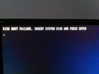 JustLocal (Just Local): Disk boot failure, insert system disk and