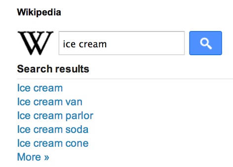 Wikipedia Search Box 2013