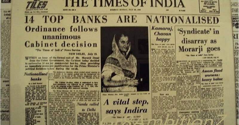 banks in india - nationalisation of banks essay Nationalisation became the watchword even the state airline, air india, was nationalised in 1953 acquisition of the imperial bank of india in 1955 was the next big step with indira gandhi's .