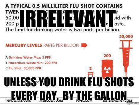 Anti flu shot meme unless you drink flu shots