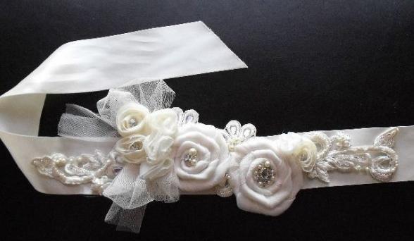 Como hacer cintos para vestidos de novia