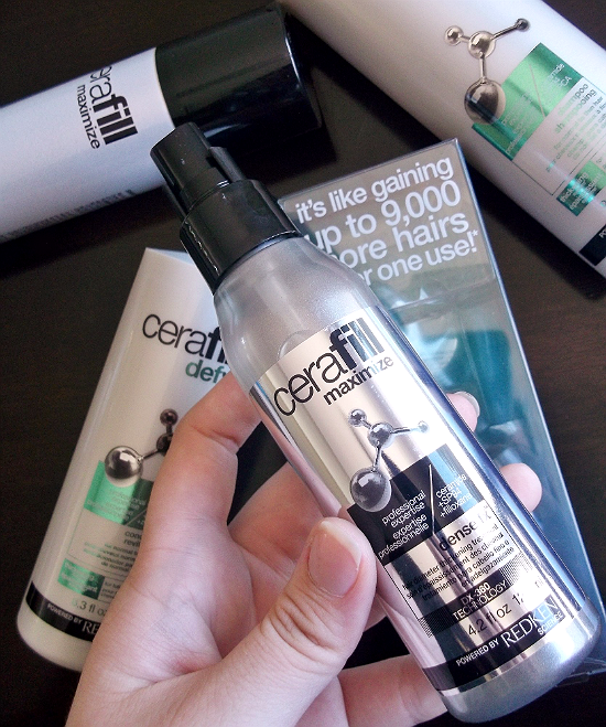 Redken's #Cerafill Defy system for thinning hair helps fortify hair fibers for stronger and fuller looking strands. #Sponsored