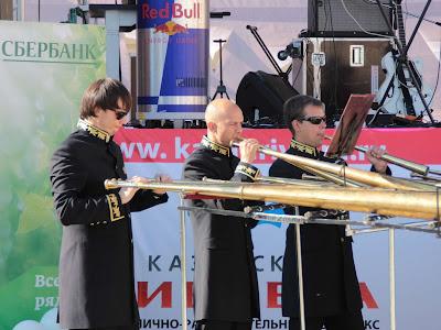 Музыканты Российского рогового оркестра
