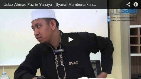 Ustaz Ahmad Fazrin Yahaya – Syariat Membenarkan Pukul Anak & Isteri untuk Mendidik