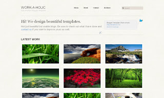 Work-a-holic Blogger Template